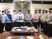Kapolri Jenderal Polisi Listyo Sigit Prabowo menerima kunjungan Badan Komunikasi Pemuda Remaja Indonesia (BKPRMI) di Mabes Polri, Senin 22 Maret 2021 - foto: Bob/Koranjuri.com