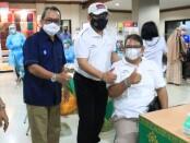 Vaksinasi tahap kedua di lingkungan perbankan yang dilaksanakan di Bank BPD Bali, Sabtu, 3 April 2021 - foto: Istimewa