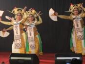 Penampilan peserta UKK Seni Tari SMKN 5 Denpasar - foto: Koranjuri.com