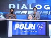 Launching Polri TV dan Radio di Gedung Divisi Humas Polri, Jalan Trunojoyo, Senin (12/4/2021) - foto: Istimewa