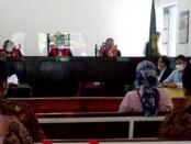 Sidang sengketa tanah Sriwedari Solo, Selasa (25/5/2021) dengan agenda pembuktian penyerahan alat bukti bagi para pihak yang berperkara dan keterangan saksi ahli dari pihak Pemkot Surakarta  sebagai pelawan - foto: Istimewa