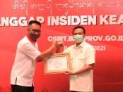 Sekretaris Daerah Provinsi Bali Dewa Made Indra saat peluncuran BALIPROV- CSIRT, di Padma Hotel Resort Bali, Rabu (5/5/2021) - foto: Istimewa
