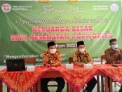 Acara tasyakuran Harkitnas dan Syawalan SMK Kesehatan Purworejo, Jum'at (21/05/2021) - foto: Sujono/Koranjuri.com