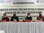 Silaturahmi dan diskusi dengan Gabungan Industri Pariwisata Indonesia (GIPI) Provinsi Bali/Bali Tourism Board. Dalam diskusi yang berlangsung di Ruang Pertemuan Kantor BTB Bali, Selasa (8/6/2021) - foto: Istimewa