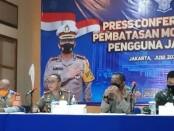 Polda Metro Jaya bersama TNI dan Pemprov DKI Jakarta mulai Senin (21/6/2021) akan melakukan pembatasan mobilitas pengguna jalan dengan Pemberlakuan Pembatasan Kegiatan Masyarakat (PPKM) di 10 titik di kawasan di DKI Jakarta - foto: Istimewa