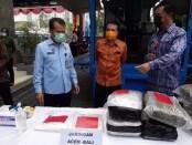 Pemusnahan barang bukti narkoba pada acara puncak peringatan Hari Narkotika Internasional di Kantor Badan Narkotika Nasional Provinsi Bali, Senin (28/6/2021) - foto: screenshot