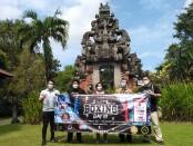Mantan petinju nasional Pino Bahari, Manager LV8 Resort Canggu Dewi Umbats dan Kepala Dinas Pariwisata Bali I Putu Astawa usai menggelar keterangan pers terkait evnsy sport tourism Bali Boxing Day III yang rencananya digelar mulai 12 Agustus 2021 - foto: Koranjuri.com