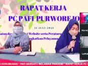 Rakerda PC PAFI Kabupaten Purworejo di SMK Kesehatan Purworejo, Minggu (11/07/2021) - foto: Sujono/Koranjuri.com