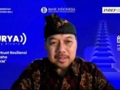 Kepala Perwakilan wilayah Bank Indonesia (KPwBI) Provinsi Bali Trisno Nugroho dalam webinar SURYA (Survey Bicara) dengan topik 'Memperkuat Resiliensi Dunia Usaha di Era PPKM', Kamis, 15 Juli 2021 - foto: Istimewa