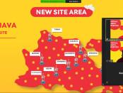 Sebaran situs baru Indosat Ooredoo di Wilayah East Java dan  Bali Nusra - foto: Istimewa