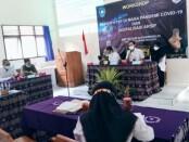 Kegiatan Workshop Review KTSP di Masa Pandemi Covid-19 dan Digitalisasi Arsip di SMPN 34 Purworejo, yang dibuka oleh Kepala Dinas Pendidikan Kepemudaan dan Olahraga Kabupaten Purworejo, Sukmo Widi Harwanto, SH, MM, Rabu (04/08/2021) - foto: Sujono/Koranjuri.com