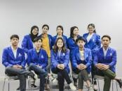 Sepuluh dari 20 mahasiswa ITB STIKOM Bali peserta program pertukaran mahasiswa merdeka tahun 2021 - foto: Istimewa