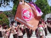 Pelantikan 23 Pengurus Dewan Ambalan RA Kartini dan Jendral Sudirman SMK Kesehatan Purworejo, Jum'at (27/08/2021) - foto: Sujono/Koranjuri.com