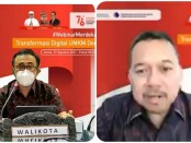 Walikota Denpasar IGN Jaya Negara (kiri) dan Kepala Perwakilan wilayah Bank Indonesia (KPwBI) Provinsi Bali Trisno Nugroho - foto: Istimewa