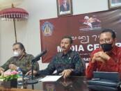 Focus Group Discussion (FGD) membahas tentang Permenkumham nomor 34 tahun 2021 yang dilaksanakan secara hybrid dari kantor Dinas Pariwisata Bali - foto: Istimewa