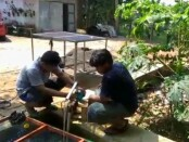Sistem irigasi mandiri berbasis tenaga surya yang kini tengah dikembangkan Pemdes Krandegan, Bayan, Purworejo, Jawa Tengah - foto: Sujono/Koranjuri.com
