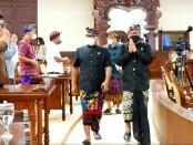 Wakil Gubernur Bali Tjokorda Oka Artha Ardhana Sukawati menghadiri Rapat Paripurna ke-24 dengan agenda jawaban Gubernur terkait pandangan fraksi atas Raperda Perubahan APBD Semesta Berencana Provinsi Bali, Kamis, 23 September 2021 - foto: Istimewa