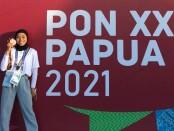 Tiwi Anjelina setelah meraih medali perunggu - foto: Istimewa