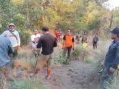 Kebakaran di lahan dan semak kering Taman Wisata Alam Gunung Batur Bukit Payang (TWAGBBP), Batur Kintamani, Bali berhasil dipadamkan oleh tim gabungan - foto: Istimewa